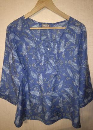 Красивая шелковая / хлопковая блузка / рубашка patra (хлопок, шелк)