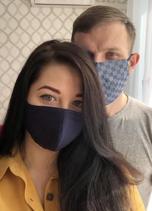 Дизайнерские хлопковые защитные маски