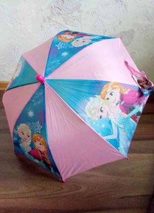 Анна эльза фирменный зонт для девочек дисней