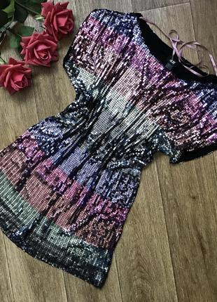 Яркая туника , укорочённое платье, кофта