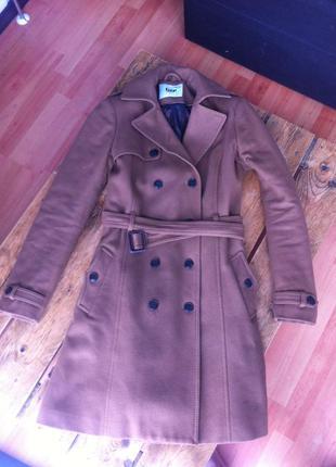 Шерстяное boyfriend бойфренд oversize пальто от дорогого бренда bruuns bazaar
