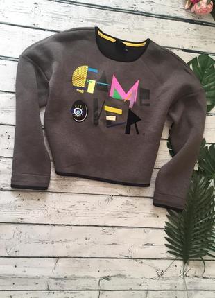 Укороченный свитер свитшот only