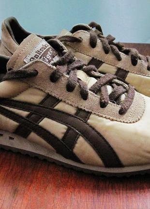 Классные бежевые кроссовки asics onitsuka tiger
