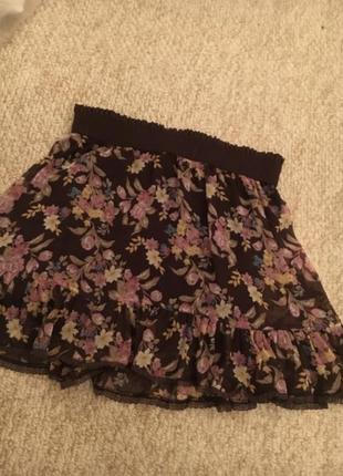 Шифоновая юбка zara