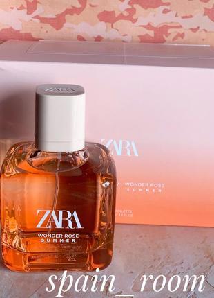 Zara wonder rose summer/парфюм/парфуми/духи/туалетная вода
