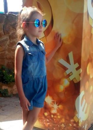 Джинсовый комбинезон-ромпер на девочку 6лет