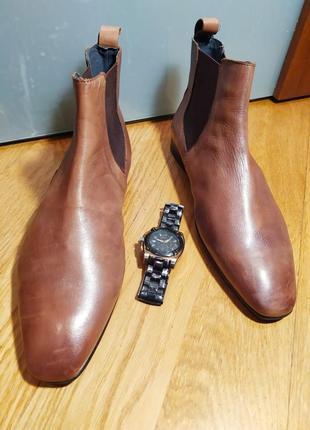 Оригинальные мужские кожаные туфли ботинки челси от известного британского бренда catesby.