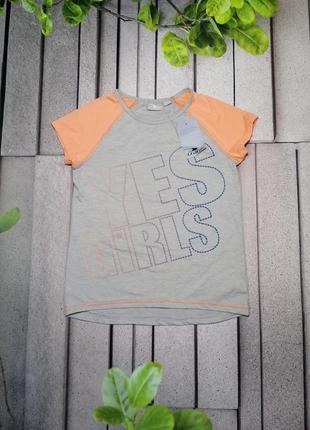 Спортивная футболка для девочки серая полиэстер