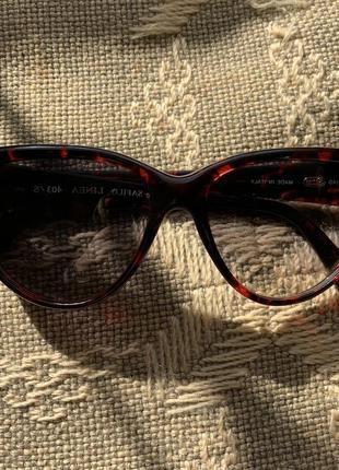 Очки винтаж красный леопард safilo