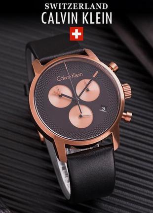 - 59% | мужские швейцарские часы хронограф calvin klein k2g17t (оригинальные, с биркой)