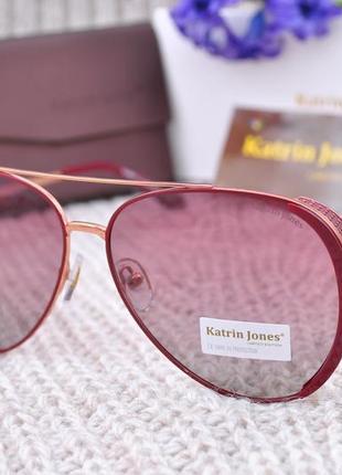 Фирменные солнцезащитные очки katrin jones polarized капля авиатор с боковой шорой