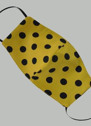 Защитная двусторонняя маска из натурального шелка