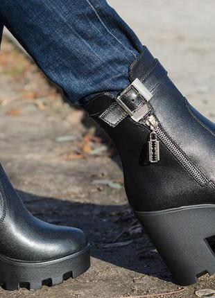 d0d528b98 Стильные модные женские ботинки на платформе.натуральная кожа.36-40р ...