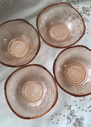 Креманка чехия 🇨🇿 марганцевое карамельное стекло винтаж пасха 🐣