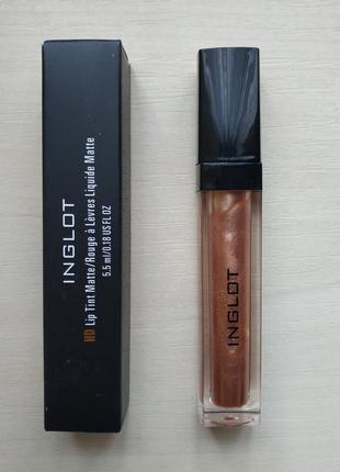 Блеск для губ - жидкая помада / inglot lip tint matte