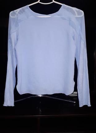 Красивая блузка в небесно голубом цвете zara раз.xs-s