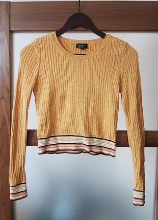 Стильный укороченный свитер topshop