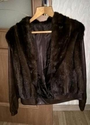 Куртка полушубок шуба норка норковая италия