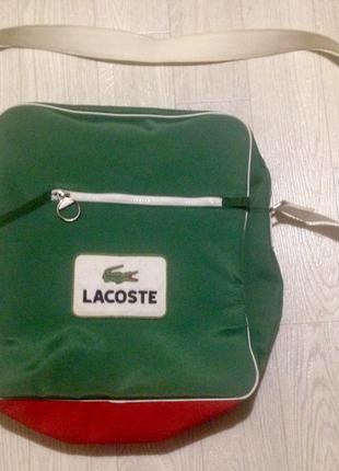 Винтажная сумка мессенджер lacoste оригинал