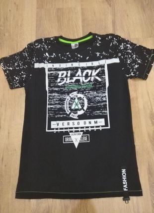 Черная футболка black для мальчика подростка