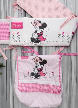 Disney набор в кроватку, бортики+сумка+плед