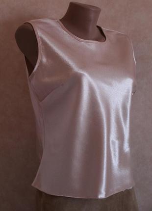 Шикарная перламутровая блуза, майка, нарядная