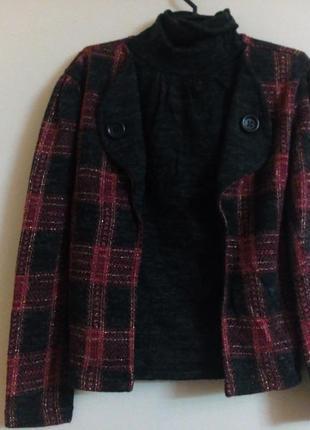 Шерстяной свитер-кофта