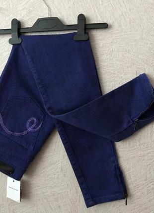 Naf-naf стильные высокие джинсы скини обтягивающие зауженные новые