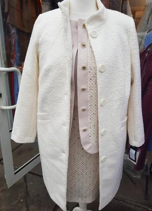Белое пальто белоснежное пальто кардиган