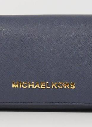 Кошелек женский кожаный michael kors  514-с синий, расцветки