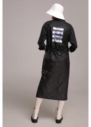 Плащ стеганный alberto bini весеннее пальто итальянский оригинал брендовый