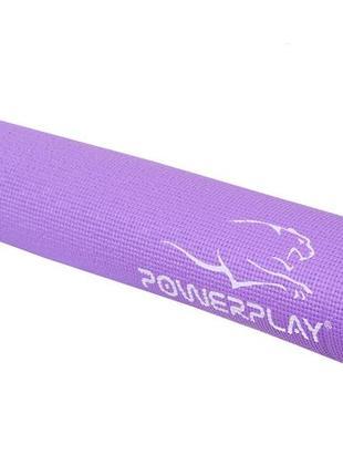 Килимок для фітнесу і йоги powerplay, 173х61х0,6