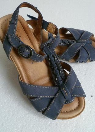 Босоножки сандалии  синие кожа gabor