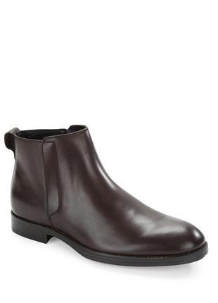 Новые кожаные мужские сапоги ботинки челси из натуральной кожи
