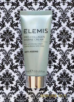 Мощный антивозрастной крем elemis pro collagen marine cream от морщин с коллагеном 15 мл