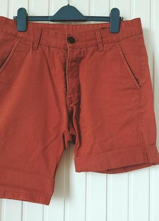 Шорты бриджи прямые свободного прямого кроя бойфренд на болтах кирпичные джинсы