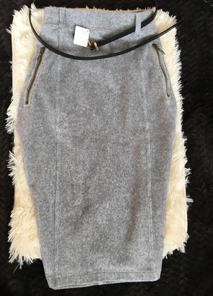 Вельветовая бархатная юбка миди