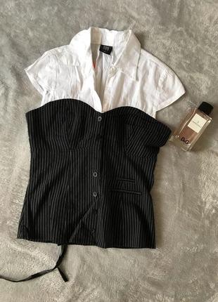 Женская блузка/рубашка сзади на шнуровке
