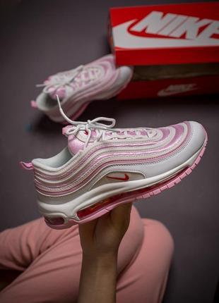 Шикарные женские кроссовки nike air max 97 розового цвета (весна-лето-осень)😍