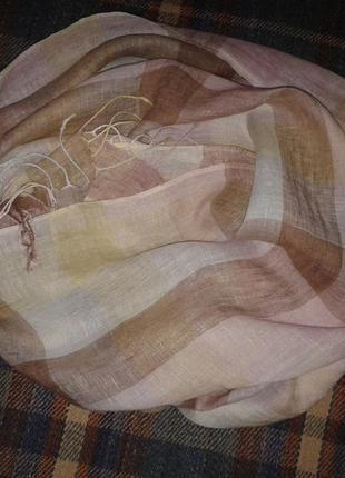 Льняной шарф esprit в пастельных тонах