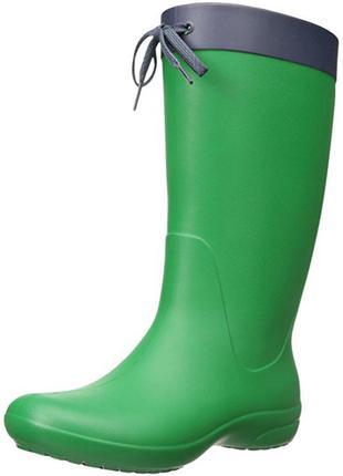 Резиновые сапоги crocs freesail rain boot раз. w6 - 23см