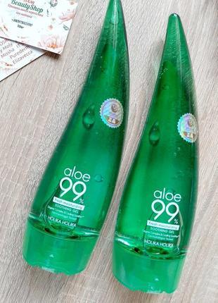 Увлажняющий успокаивающий гель алое holika holika aloe soothing gel 99% 250мл