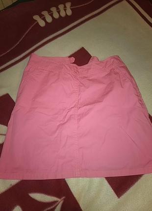 Розовая юбка-трапеция