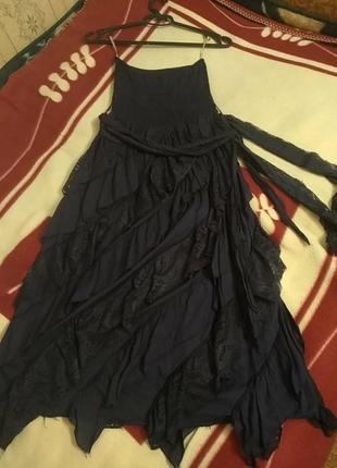 Интересное ассиметрическое платье- резинка