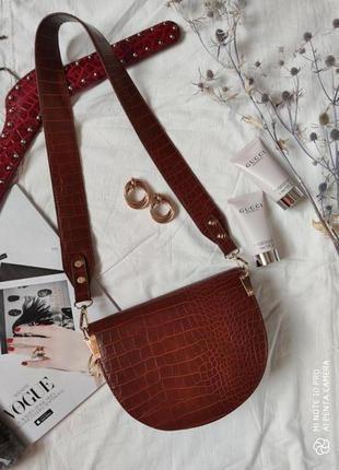 Сумка сумочка структурированная седло кросс боди винтажная с 2 ручками  новая10 фото