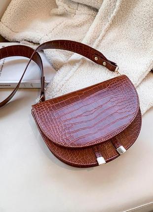 Сумка сумочка структурированная седло кросс боди винтажная с 2 ручками  новая3 фото