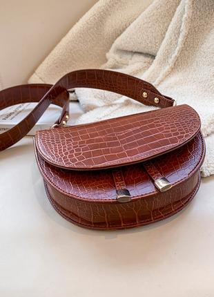 Сумка сумочка структурированная седло кросс боди винтажная с 2 ручками  новая4 фото