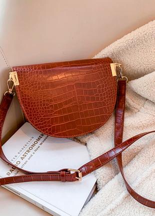 Сумка сумочка структурированная седло кросс боди винтажная с 2 ручками  новая6 фото