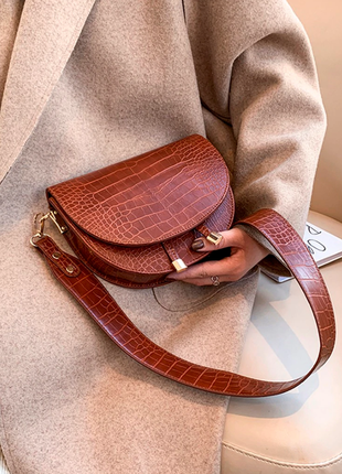 Сумка сумочка структурированная седло кросс боди винтажная с 2 ручками  новая2 фото