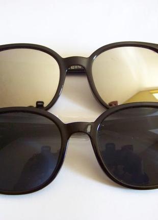 Прямоугольные классические солнцезащитные черные очки с черной дымчатой линзой